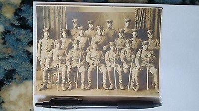 Original Wwii Japanese Photo: Army Soldiers With War Swords!!