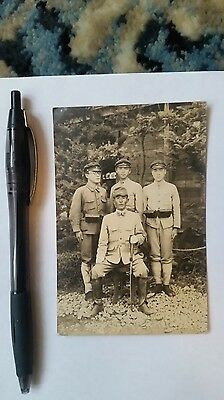 Original Wwii Japanese Photo: Army Student Soldiers, Sword!!