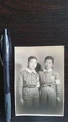 Original Wwii Japanese Photo: Japanese Girls Prepare For War, Home Front!!