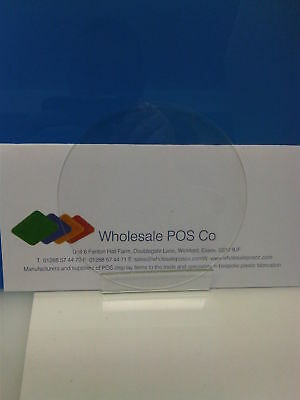 160Mm Diameter 3Mm Thick Clear Perspex Pmma Disc Other Sizes In Store & To Order