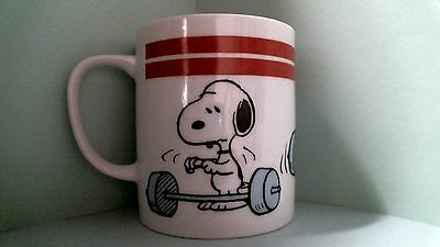 Peanuts Snoopy Woodstock Weight Lifter Mug Cup