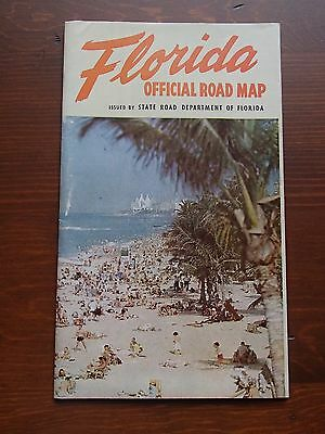 1954 Florida Official State Road Map
