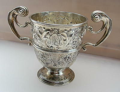 SUPERB ENGLISH STERLING PRESENTATION CUP 1897 Charles Stuart Harris