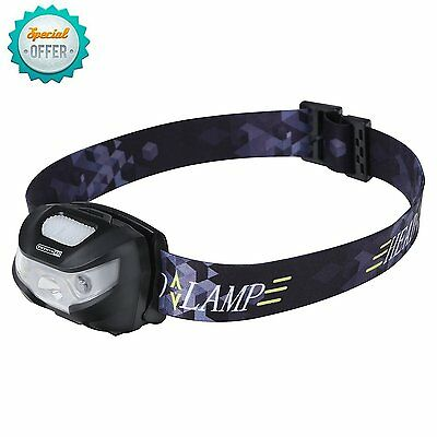 Rechargeable LED Headlamp, Hands Free LED Head Torch, with Red Light Dimmable -