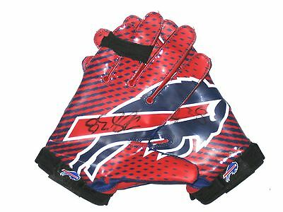 Frank Summers Game Worn & Signed Buffalo Bills Team Authentic Series Nike Gloves