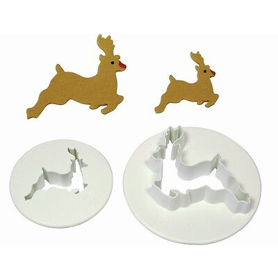 Christmas......2PCS Reindeer Cookie Cutter Fondant Mould Set.....new