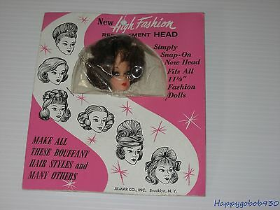 Vintage Barbie Competitor High Fashion Replacement Head Mint On Card
