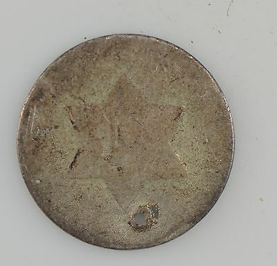 Silver Three-Cent Piece ***Hole *Z08