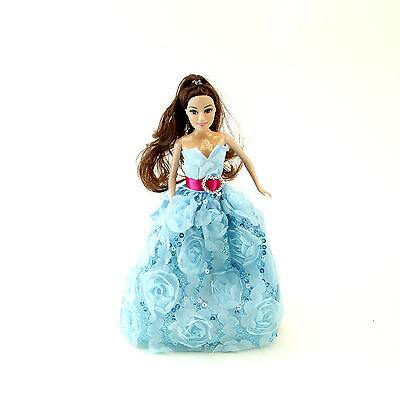 New Girls Toy Happy Dancing Princess LED Light & Sounds For Age 3 Years Up Blue