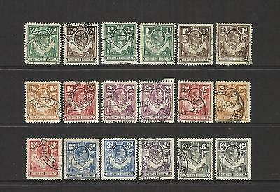 Northern Rhodesia (Zambia) ~ 1938-52 King George Vi Definitives (Part Used Set)