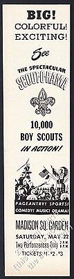 1948 Boy Scouts Scout-O-Rama New York City Madison Square Garden vintage ad