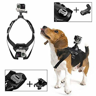 Poppypet Dog Harness Chest Mount Accessory Kit for GoPro Hero 4 3+ 3 2 1 and for
