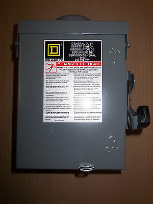 New Square D DU322RB 60 Amp 240v Non Fusible 3R Disconnect Safety Switch