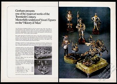 1974 Gorham Giuseppe Vasari Medici chess board set History Of Man photo print ad