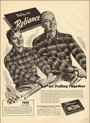 1940s vintage AD, BIG YANK Men's Clothes, Father and Son  061714