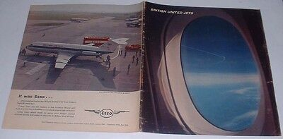 Vintage BUA British United Airlines Brochure VC10 and 1-11 Jets Gatwick Airport