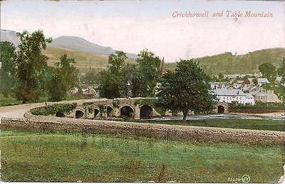 Crickhowell and Table Mountain - Posted Postcard