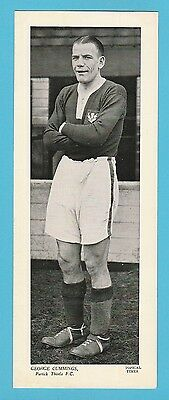 Football - Topical Times - Very Rare Xxl Scottish Footballer Card -Geo. Cummings