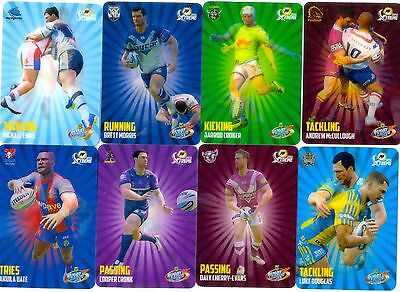 2016 NRL ESP POWER PLAY 3D LENTICULAR SKILLS set of 16 cards/1 player per team