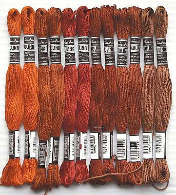Embroidery Twist Embroidery Yarn 12x brown-tones Cotton twist embroider -33