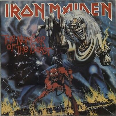 IRON MAIDEN The Number Of The Beast 1982 UK Vinyl LP + INNER EXCELLENT CONDITION