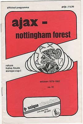 Ajax V Nottingham Forest 1979/80 European Cup Semi Final