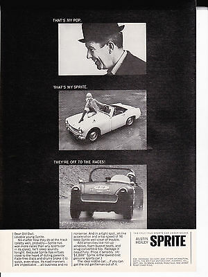 Original Print Ad-1965 That's my pop. That's my SPRITE. They're off to the races