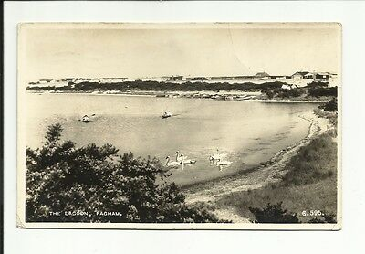 The Lagoon Pagham Old Black & White Postcard Franked 1919