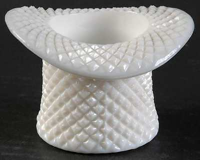 Westmoreland ENGLISH HOBNAIL MILK GLASS Topper (Top Hat) 769481