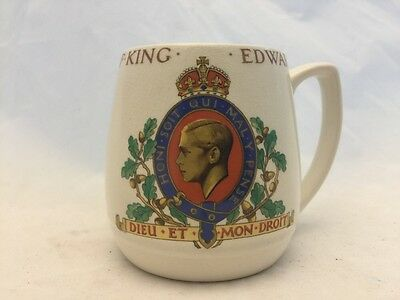 Coronation Of King Edward Viii-May 1937-Lancasters-Made In Hanley England-Mug