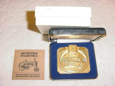 1989 Limited Edition John Deere Gold Belt Buckle 1934 A Mint Number 1227 of 6000