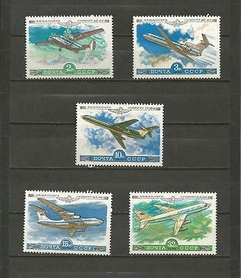 RUSSIA - 1979 History of Soviet Aircraft    - MINT UNHINGED SET