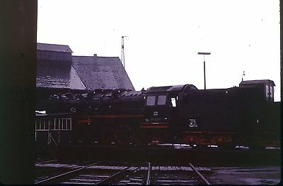 35Mm Colour Slide German Railway Db Steam Loco 051 242-6 Schweinfurt Shed 1972