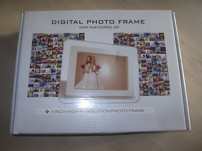 "New 7""inch Digital Photo Picture Video Frame BLACK"