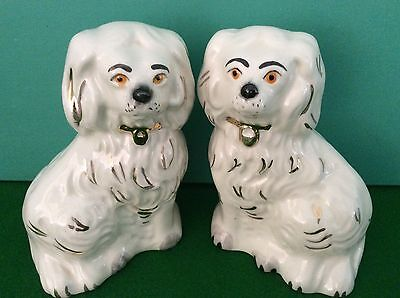 BESWICK Pair Of Old English Mantelpiece Staffordshire Pottery Spaniel Dogs