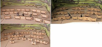 28mm Defence Line Barricades Barriers Modern or Scu-Fi 40K Zombie Appocolypse