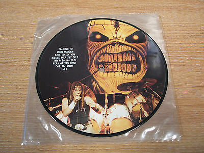 "talking to iron maiden part 1  1985 uk issue vinyl 7"" picture disc single"