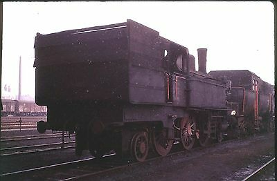 35Mm Colour Slide German Db Railway Steam Loco 0-108-9? On Shed White Spots 1973