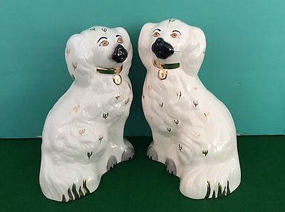 A Pair Of BESWICK Old English Mantelpiece Staffordshire Pottery Spaniel Dogs
