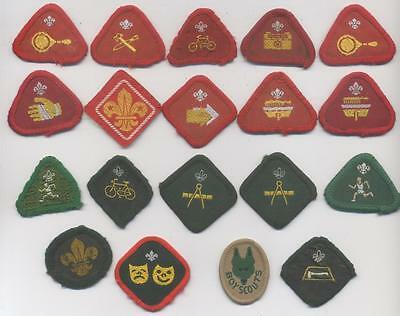 Selection Of 19 Cub & Scout Badges