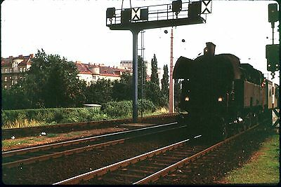 35Mm Colour Slide Austrian Railway ? Steam Locomotive On Train 4-6-2 Wheels 1972