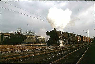 35Mm Colour Slide Austrian Obb Railway Steam Locomotive 52.859 Freight Train 73