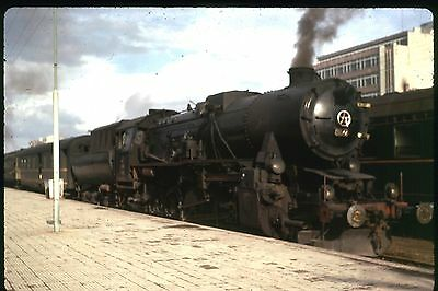 35Mm Colour Slide Turkish Railway Steam Locomotive Express At Station May 1973 A