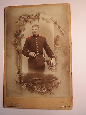 Minden - stehender Soldat in Uniform - Regiment Nr. 10 ? 16 ?  koloriert / KAB