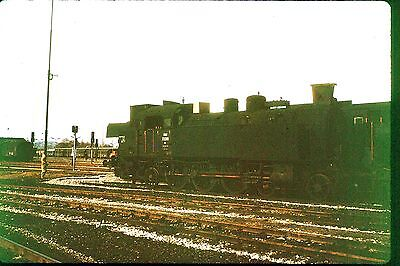 35Mm Colour Slide Austrian Obb Railway Steam Locomotive 77.261 On Shed 4-6-2 73