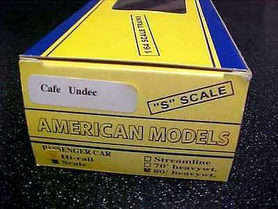 American Models S Scale PULLMAN 80' Heavyweight Passenger Cafe Undec Car w Box