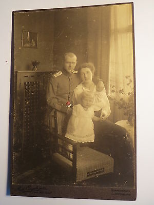 Quakenbrück Cloppenburg - Frau mit Kind & Soldat in Uniform Regiment IR 164  KAB