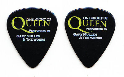 Queen One Night of Queen Gary Mullen & the Works Black Tour Guitar Pick