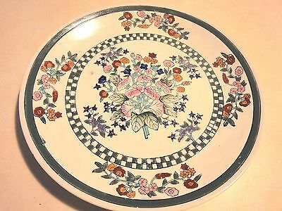 """Chinese Famille Flowers  10 1/4""""  Plate Marked Made In China"""