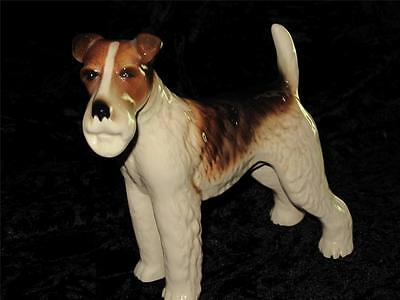 STUNNING COOPERCRAFT Porcelain China WIRE FOX TERRIER Dog Ornament